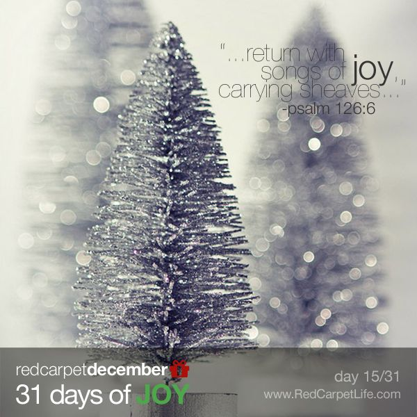 """#31DaysOfJoy #RedCarpetLife - Day 15/31: """"Those who go out weeping, carrying seed to sow, will return with songs of joy, carrying sheaves with them."""" ~Psalm 126:6 #Faith #DailyScripture #ScriptureOfTheDay #VerseOfTheDay"""