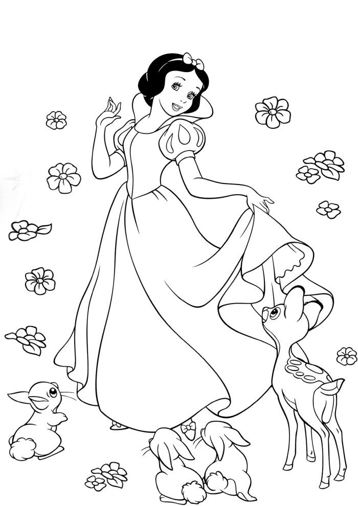 Beautiful Princess Snow White Coloring Book