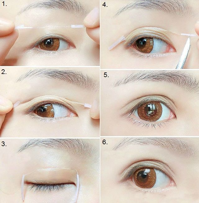how to use eyelid tape for hooded eyes