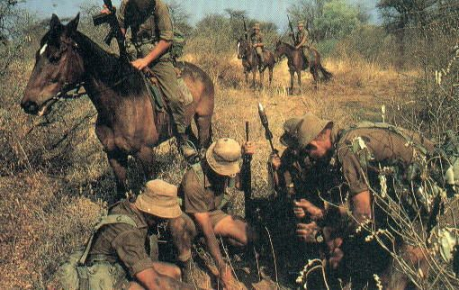 sadf south african army Berede. Mounted infantry.