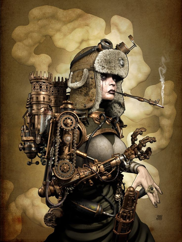 SteamGirl Picture  (3d, character, robot, sci-fi, girl, woman, android, steampunk)