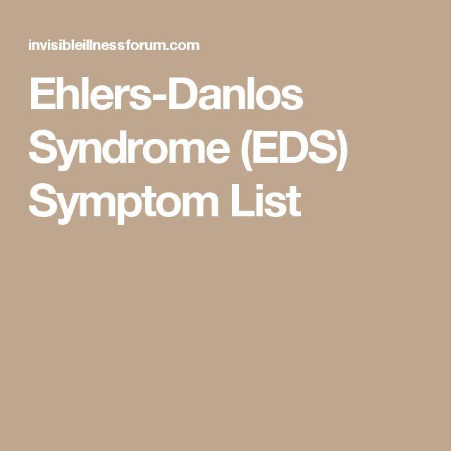 Ehlers-Danlos Syndrome (EDS) Symptom List