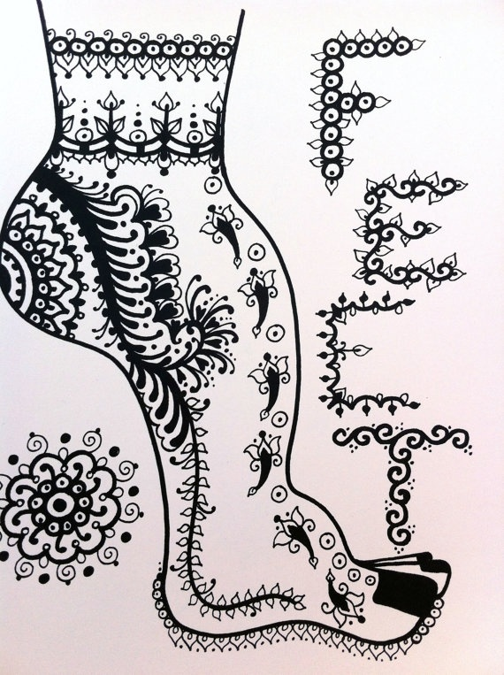 Henna Mehndi Design Book : Henna feet design and pattern book for designs by