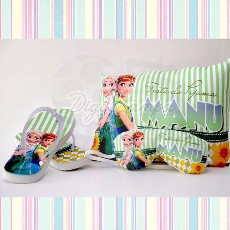 15 Kits Festa Do Pijama ( Chinelo + Almofada + Tapa Olho) - R$ 520,00 em Mercado Livre