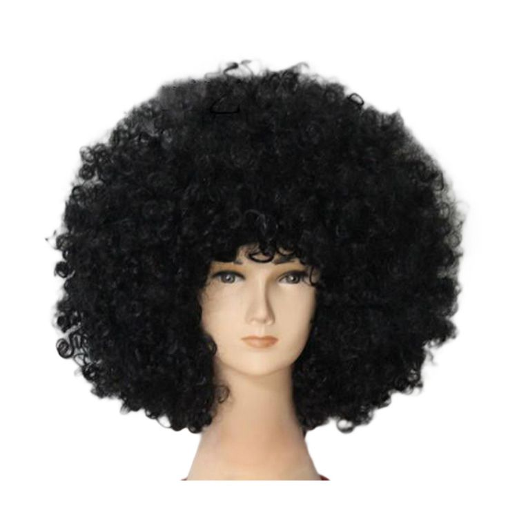 Fashion Afro Cosplay Curly Clown Party 70s Disco Cosplay Wig Cheering Squad Clown Black