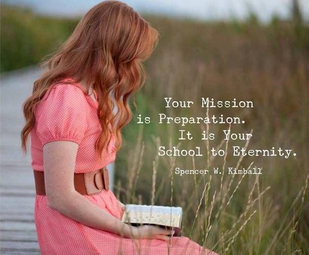 """""""Your mission is preparation. It is your school for eternity. This is the time when you cultivate the seed of godhood so that you can help other people on their way toward exaltation."""" –Spencer W. Kimball http://pinterest.com/pin/24066179230451059 #ShareGoodness"""