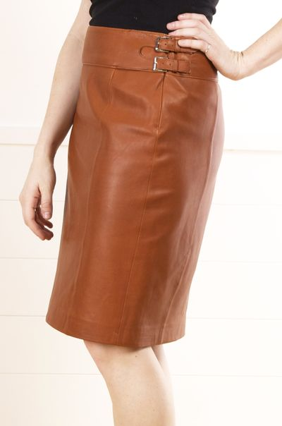 Ralph Lauren Skirt. Leather for the over 50 crowd. Love it!