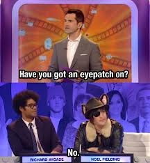 David Bowie told him to do it in a dream. Noel Fielding. Big Fat Quiz. Richard Ayoade. Jimmy Carr.