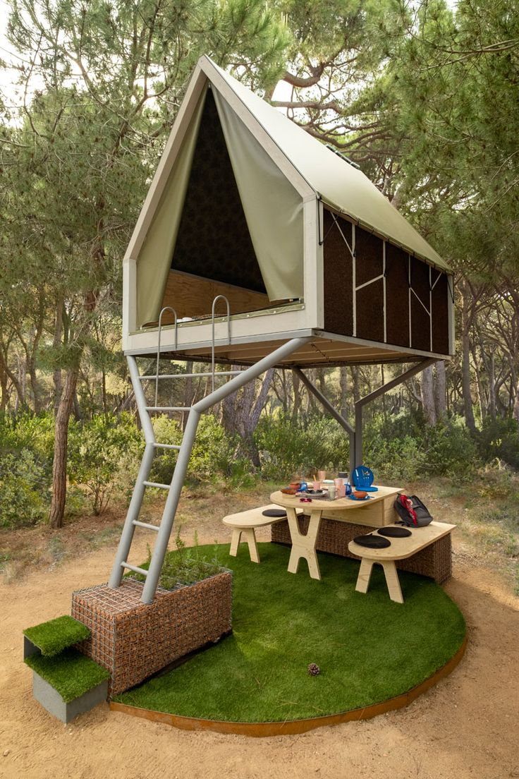 This Elevated Cabin Creates A Sheltered Living Space Below