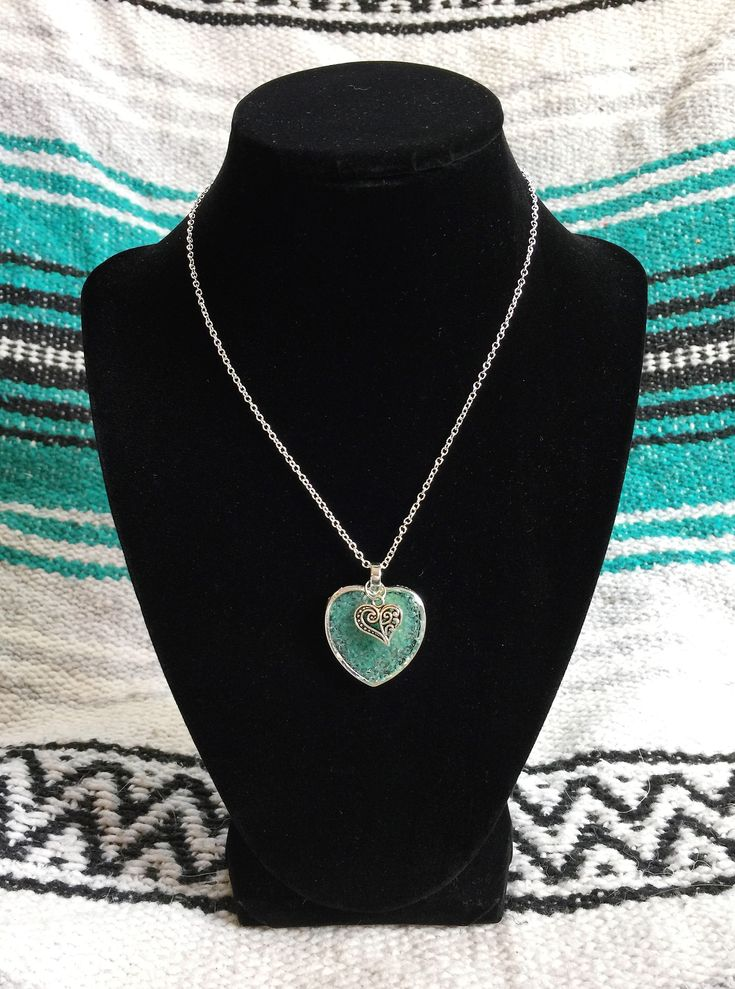 Excited to share the latest addition to my #etsy shop: Amazonite Love Heart Orgone Tower Buster Pendant Necklace with Charm- 925 O Link Necklace Chain Heart Throat Crown Chakra Healing Meditation