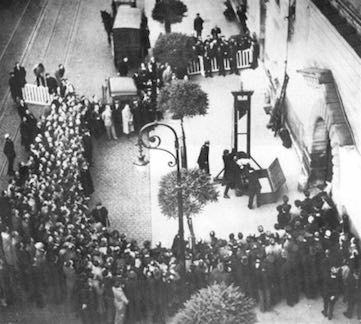 The public guillotine execution of Eugen Weidmann in 1939, viewed online over one million times.