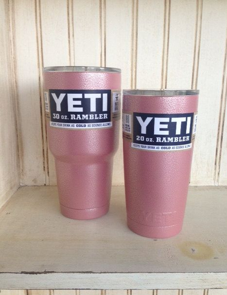 Pink/Silver 20oz or 30oz Yeti Cup by ParishGoods on Etsy