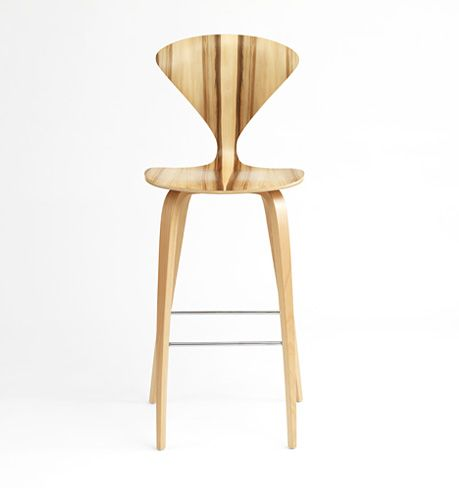 norman cherner wood leg stool from cherner chair company