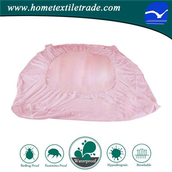 White Hospital Hotel Bed Waterproof Cover Cheap Wholesale Mattress Protector in Virginia Beach