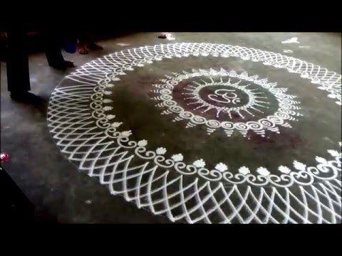 Learn rangoli : How to draw Sanskar Bharati Rangoli Design Diwali Special Rangoli Kolam - YouTube
