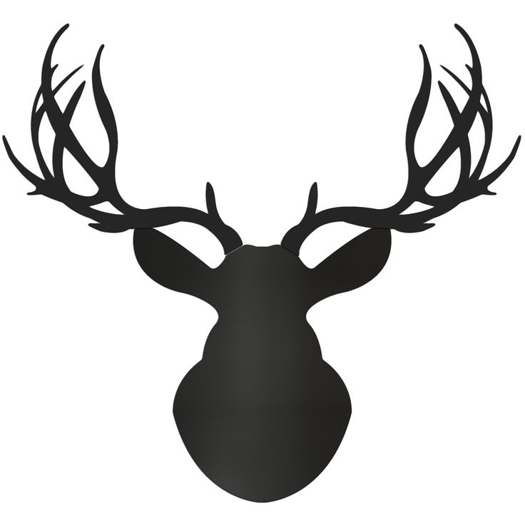 Our Midnight Buck is one of several new large deer mount wall art silhouettes, CNC-routed from PolyMetal for the ultimate modern wall decor. In an effort to capture the traditional shape of the deer o