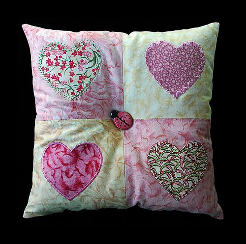 Applique pillow | Flickr - Photo Sharing!