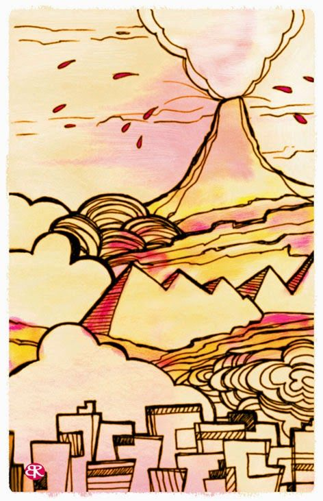 Volcan by Beatriz Rincón Ilustradora