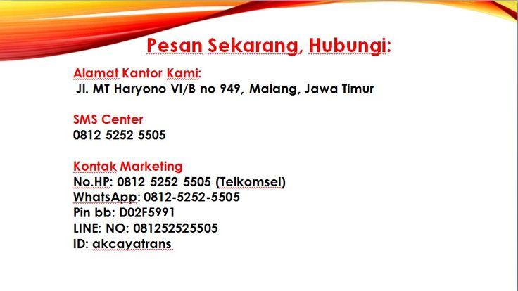 TRAVEL DI MALANG KE JOGJA, HARGA TIKET TRAVEL MALANG KE JOGJA, KONTAK TRAVEL MALANG JOGJA, HARGA TRAVEL DARI MALANG KE JOGJA, MOBIL TRAVEL DARI MALANG KE JOGJA,    Hubungi Kami Segera: No.HP: 0812 5252 5505 (Telkomsel) WhatsApp: 0812-5252-5505 Pin bb: D25F1388  LINE: NO: 081252525505 ID: akcayatrans