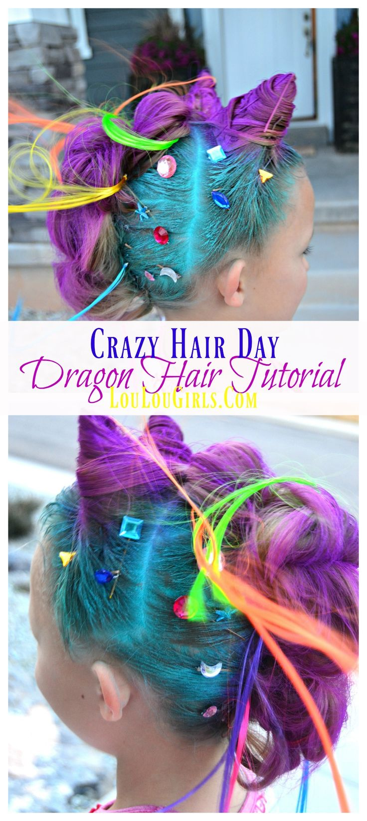 Crazy Hair Day Idea Dragon Hair For Girls Crazy Hair