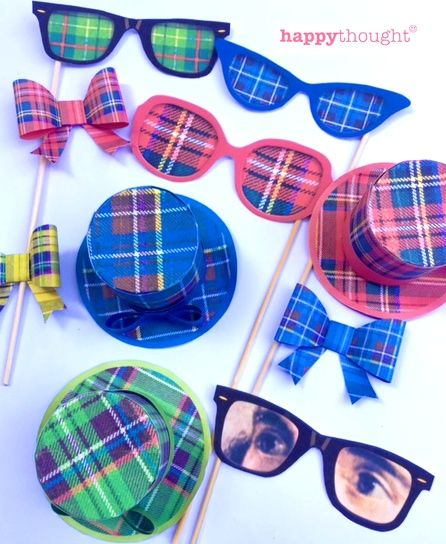 Fab Burns Night printable photo props by Happythought