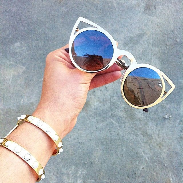 gold cateye sunglasses.