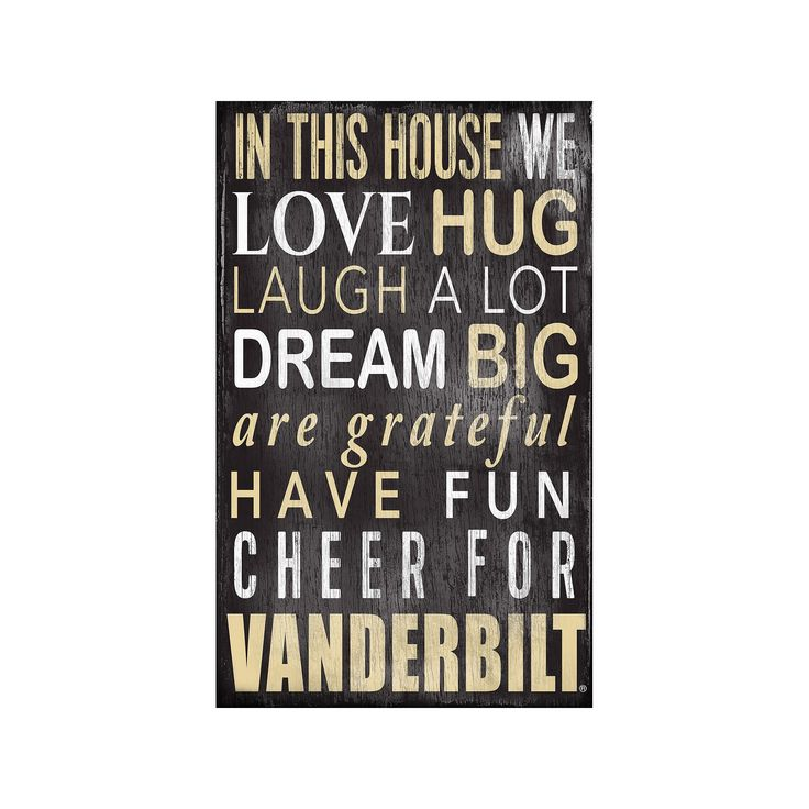 Vanderbilt Commodores In This House Wall Art, Multicolor