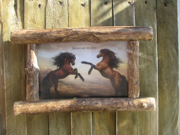 Come and check the latest addition to my #etsy shop: Horses Framed Picture, Branches product, Natural wood, Rustic photo frame, Retro, Nature, Animals, Power, Play http://etsy.me/2FcQTJ9  #homedecor #woodworkingcarpentry  #birthday #horse #animal #horseplay #walldecor