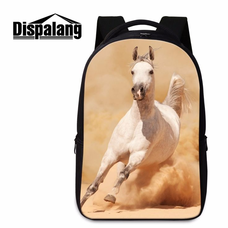 34.99$  Buy now - http://alizb9.shopchina.info/go.php?t=32700691361 - High Quality Animal Horse School Bags for College Horse Backpacks for Boys Teenager Bookbags Laptop Computer Bags for Youth  #magazineonline