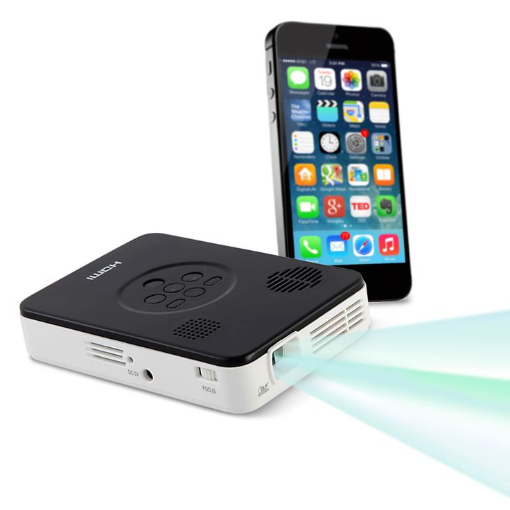 This is the pocket sized projector that turns an iphone for Best pocket projector for presentations