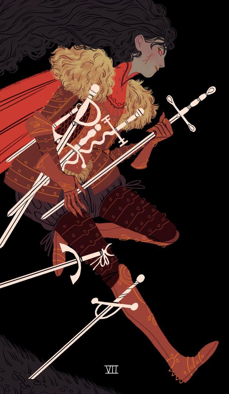 #Seven of Swords #illustration