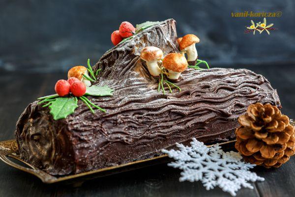 Торт Рождественское полено.