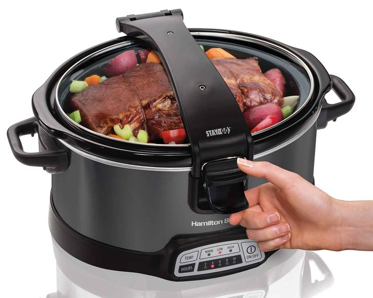 Programmable Stay or Go® 6 Quart Slow Cooker (33468) | Large Slow Cookers | Hamilton Beach®