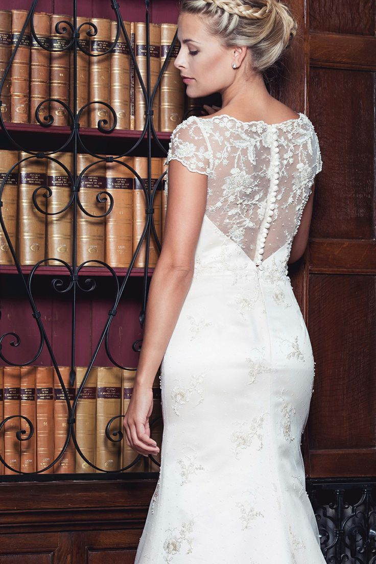 11 best jurken queeste images on pinterest poppy a delicately beaded lace gown with cap sleeves and an illusion lace back ombrellifo Choice Image