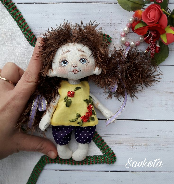 Textile doll, decorative doll,collectible dolls, doll cotton, rag doll, art doll by Savkota on Etsy