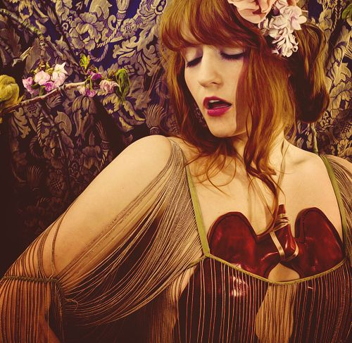 Florence Welch of Florence and the Machine - Lungs was a stunning debut album. Something beautifully crazy and endearing about this woman.