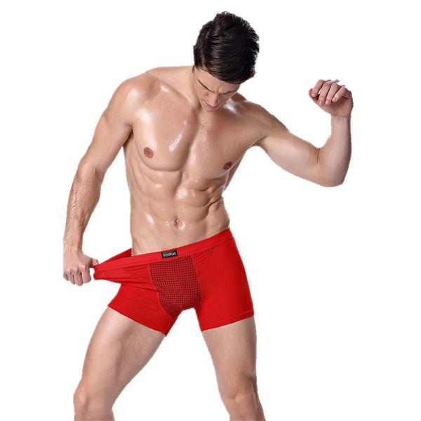 VindKan Mans Magnet Therapy Boxers Breathable Micro Modal Antibacterial Sanitarian Underwears