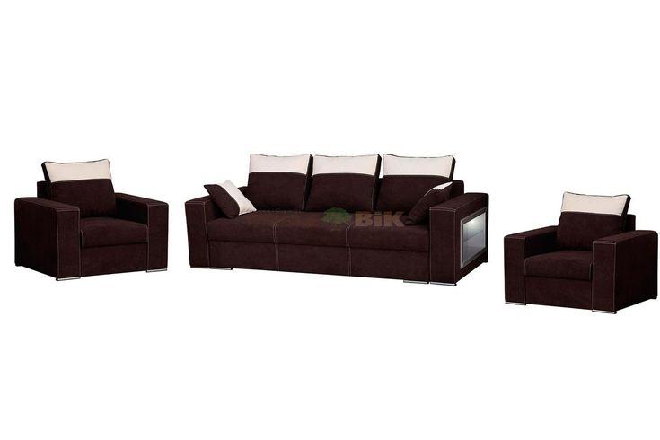 Zestaw wypoczynkowy do salonu 3R+1+1 Mars z fotelami - WM-Meble - sklep meblowy Meble BIK