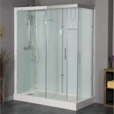 Cabine de douche rectangulaire 120x90 cm, Thalaglass 2 thermo