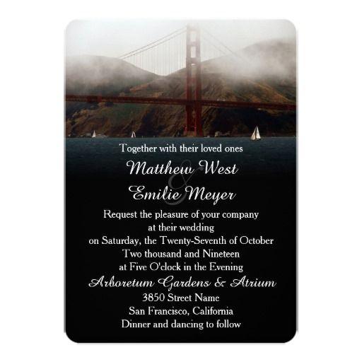68 best golden gate wedding invitations images on pinterest bridal golden gate san francisco wedding invitation stopboris Choice Image