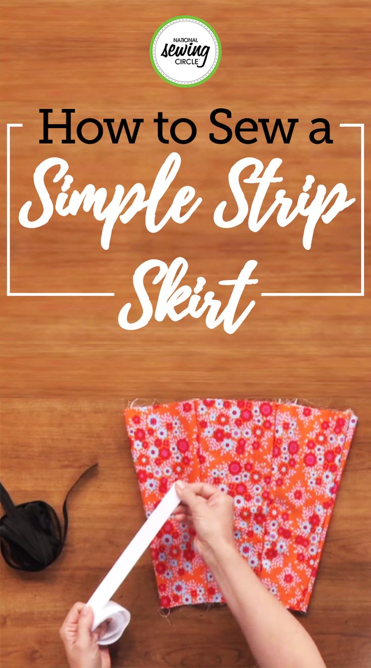 Ellen March teaches you how to make a strip skirt using your own pattern. It is easy and all you need is a big sheet of paper. Then determine how long you want it to be and Ellen will help you finish it. Once complete, add a simple double turn hem to perfect it.