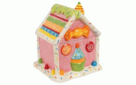 Bombonieră ceramică cu motive colorate și vesele. Recomandă-o prin Happy Share si primesti 4% comision din vanzarile generate.