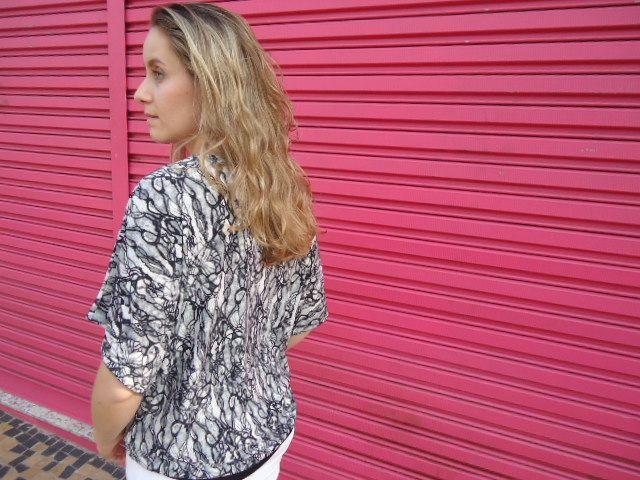 E.commerce: Blusa malha fria PB com elastano faixa preta frontal