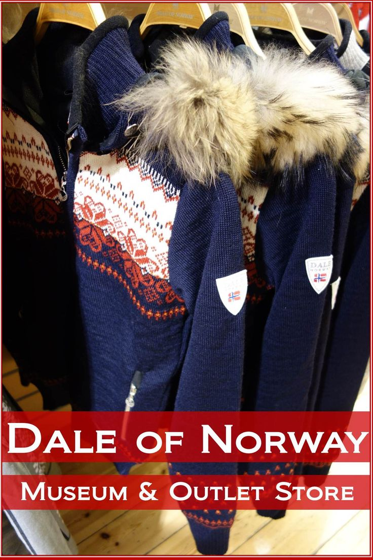 One of the best souvenirs you can buy while visiting Norway is a classic Norwegian sweater. There's no better place to get one than at the source in Dale, Norway.  The Dale of Norway company has been making sweaters at their location in Western Norway since 1879 and has been an official supplier of the Norwegian Olympic Team since 1956. At their headquarters in Dale, you will find the lastest designs as well as an outlet shop where you can scoop up some bargains at up to 70% off.