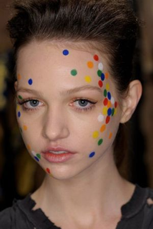 finger painting spotty face