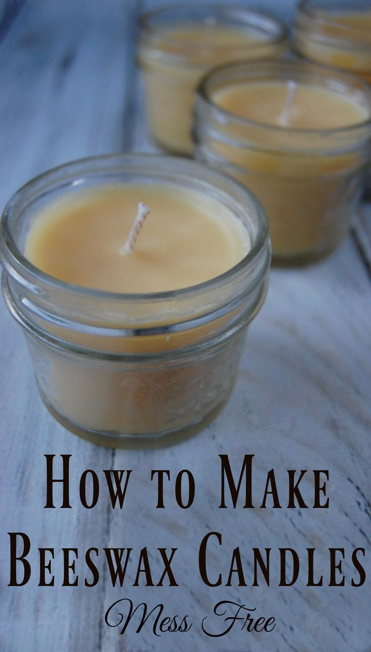 How to Make Beeswax Candles - Mess Free! Beeswax candles are toxin free and actually help clean the air! Making your own is easy to do and makes great diy gifts!