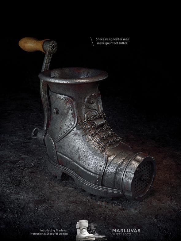 Marluvas Safety Boots: Meat grinder