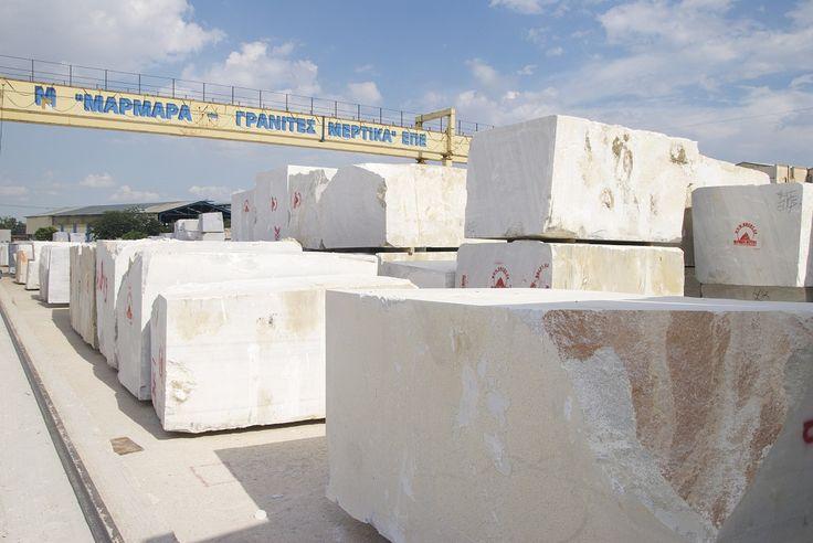 White Marble Of Panagias (Kavala Marble) by Mertika Marble LTD #SemiWhite #Marble #carrara #blocks marble