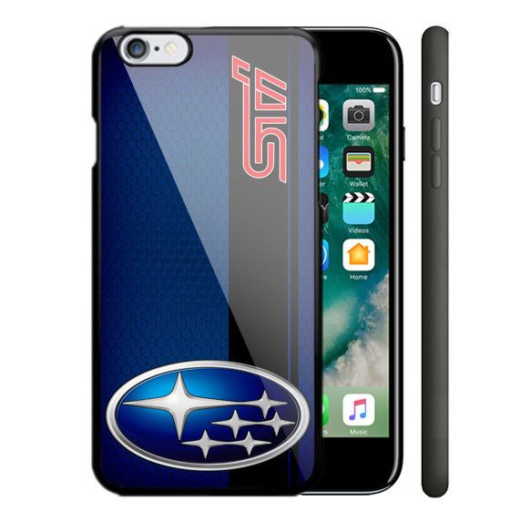 Subaru STI Blue Automotive iPhone 6 6s 7 8 X Plus Hard Plastic Case #UnbrandedGeneric