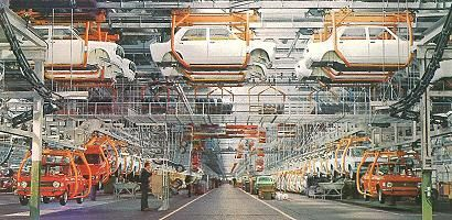 Fiat 128 production line